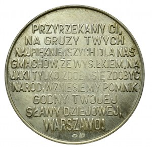 Polska, Medal Zamek Królewski w Warszawie 1979 srebro