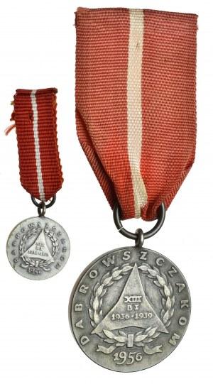 Medal Dąbrowszczakom + miniaturka