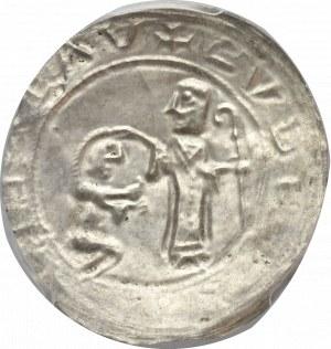 Bolesław III Krzywousty, Brakteat protekcyjny - PCGS MS62
