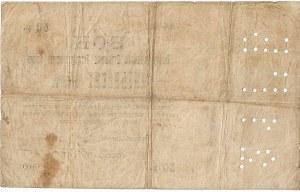 ZSRR, Bon 50 rubli 1918 ser. AA-100 na blankiecie wekslowym