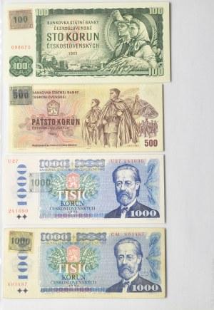 Zbiór banknotów od Protektorat Chech i Moraw do Chechosłowacja 125szt