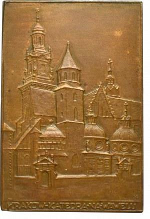 Polska, Plakieta Katedra na Wawelu, brąz 40x27 mm