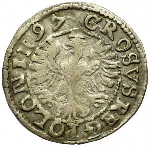 Zygmunt III Waza, Grosz 1597 Lublin - napisowy SIGIS
