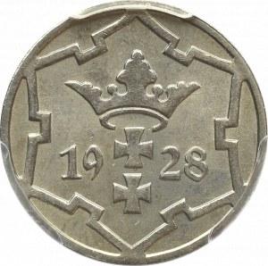 Wolne Miasto Gdańsk, 5 fenigów 1928 Berlin - PCGS MS64
