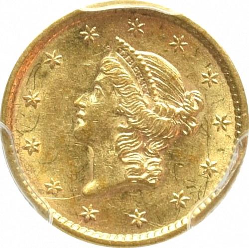 USA, 1 dolar 1852 - PCGS AU58