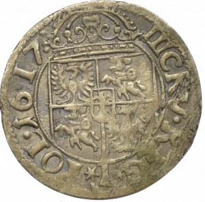 Zygmunt III Waza, 3 krucierze 1617 Kraków- nieopisany POL
