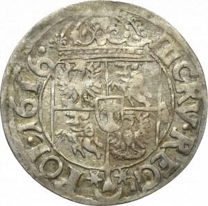 Zygmunt III Waza, 3 krucierze 1616 Kraków - rzadkość herb Sas