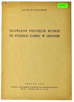 Zdzisław Dureczewski, Ołowiane pieczęcie Ruskie, 1939 rok