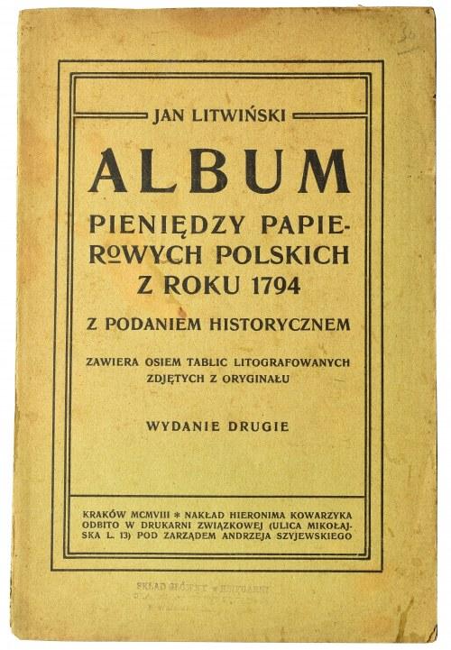 Jan Litwiński, Album pieniędzy papierowych polskich z roku 1794