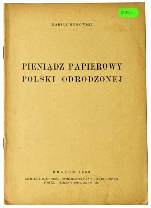 Marian Gumowski, Pieniądz papierowy polski odrodzonej