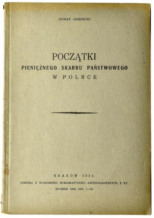 Roman Grodecki, Początki pieniężnego skarbu państwowego w Polsce
