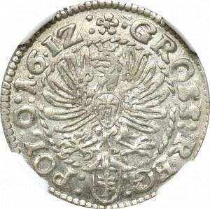 Zygmunt III Waza, Grosz 1612 Kraków - NGC AU58