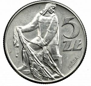 PRL, próba 5 złotych 1959 b.z. nikiel