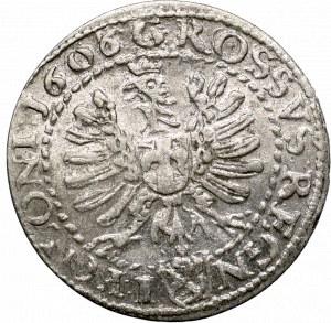 Zygmunt III Waza, Grosz 1606 Kraków - REGN-I