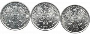 PRL, 3 x 2 złote jagody 1970