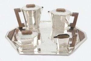 Komplet do kawy i herbaty art deco na tacy