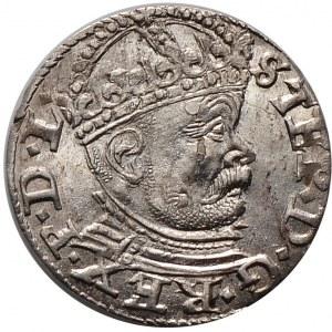 Stefan Batory, trojak 1586, Ryga, duża głowa