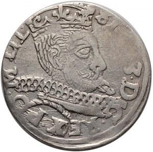 Zygmunt III Waza, trojak 1598, Wschowa, przebitka błędu REG na REX