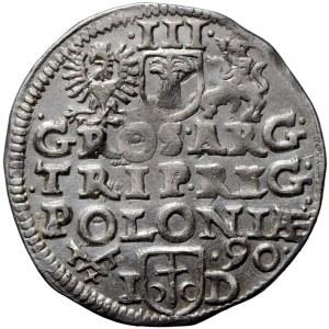 Zygmunt III Waza, trojak 1590, Poznań, inna interpunkcja