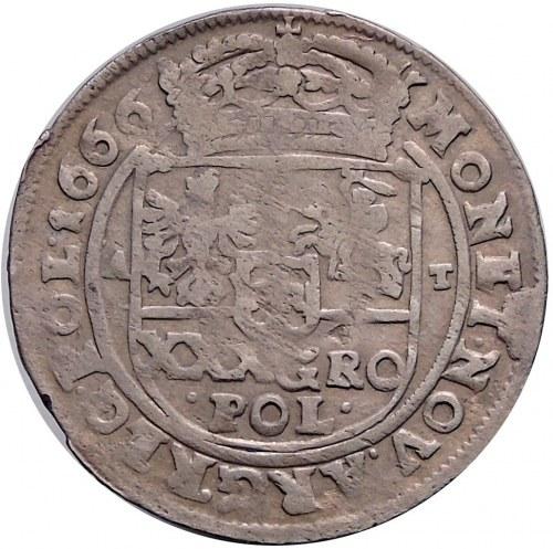 Jan II Kazimierz, tymf 1666, Bydgoszcz, z błędem SEVATA (R3)
