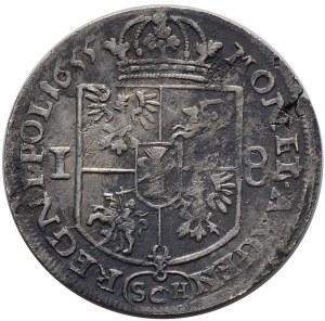Jan II Kazimierz, ort 1655 (SCH), Kraków