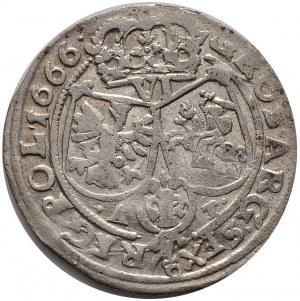 Jan II Kazimierz, szóstak 1666 AT, Bydgoszcz, MD kończy napis na awersie