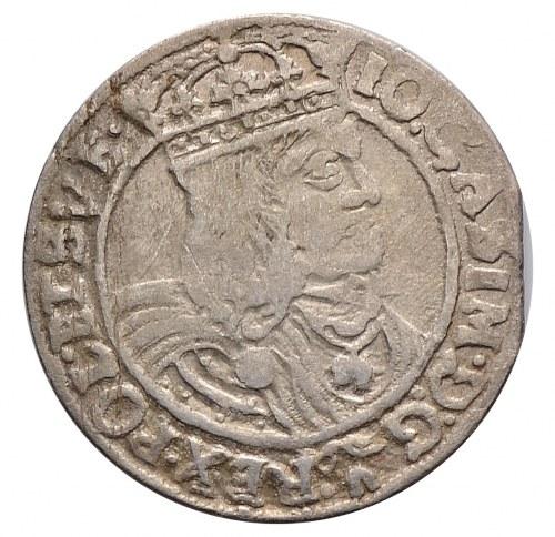 Jan II Kazimierz, szóstak 1662 GBA, Lwów, 'D' z odwróconego 'G' w DG