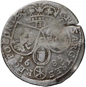 Jan III Sobieski, trojak 1685, Kraków (R3)
