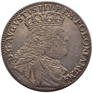August III, ort 1754 EC, Lipsk, litera L na ramieniu, nienotowany