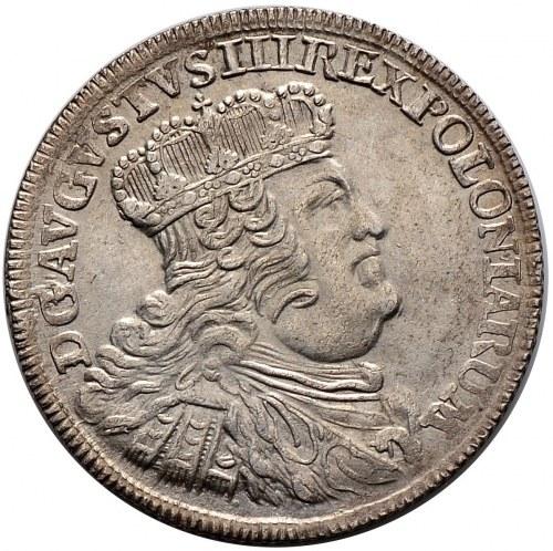 August III, dwuzłotówka, 8 groszy 1753, Lipsk