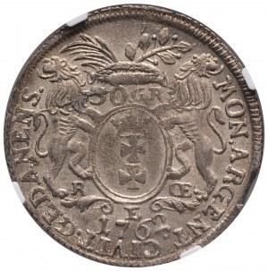 August III, Złotówka 1762, Gdańsk