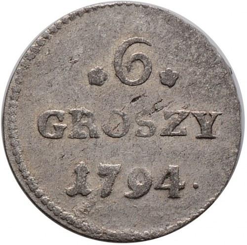 Stanisław August Poniatowski, 6 groszy 1794, Warszawa