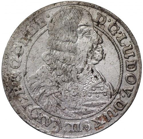 Śląsk, Księstwo legnicko-brzesko-wołowskie, Ludwik IV Legnicki, 15 krajcarów 1663, Brzeg