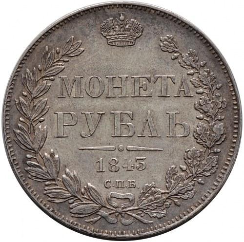 Mikołaj I, rubel 1843 СПБ АЧ, Petersburg