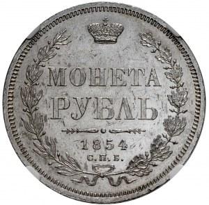 Mikołaj I, rubel 1854 СПБ HI, Petersburg