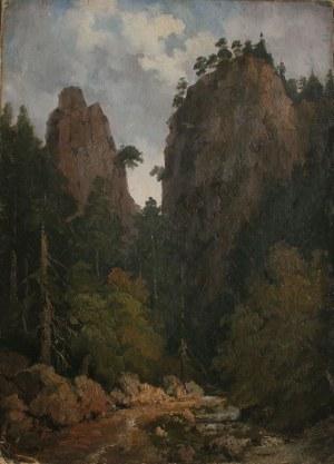 Henryk Walter(?-1860), Wąwóz w górach [Wąwóz Szopczański w Pieninach?] (1844)