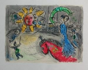 """Marc Chagall (1887-1985), Słońce z czerwonym koniem(""""Derriere le Mirroir"""" no 235, 1979, Mourlot #945)"""