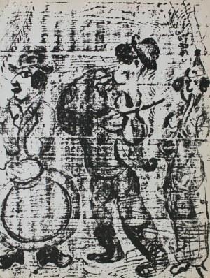 """Marc Chagall (1887-1985), Wędrujący muzykanci(""""Chagall Lithographe II"""", 1963, Mourlot #396)"""