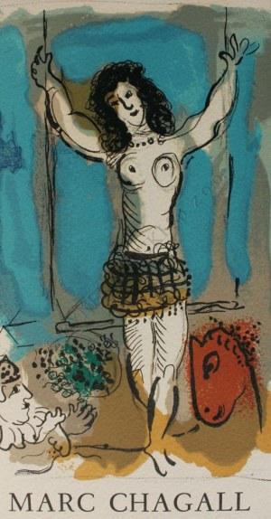 """Marc Chagall (1887-1985), Akrobata na trapezie(""""Hommage a Marc Chagall"""", Berggruen&Cie, 1967, Mourlot #477a)"""