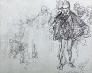 Jan Matejko (1838 Kraków – 1893 tamże) - Szkic Walezy – do zabójstwa Wapowskiego