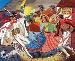 Zofia Stryjeńska (1891 Kraków - 1976 Genewa) - Tańce góralskie