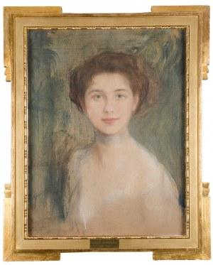 Teodor Axentowicz (1859 Braszów/Rumunia - 1938 Kraków) - Studium portretowe - Pani Boczarowa