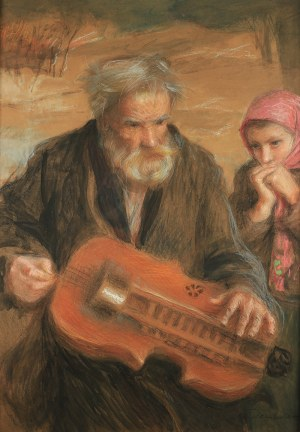 Teodor Axentowicz (1859 Braszów/Rumunia - 1938 Kraków) - Lirnik