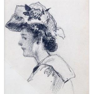 Stanisław Sawiczewski (1866 Kraków - 1943 Warszawa) - Kobieta w kapeluszu