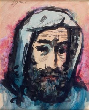 Jakub Zucker (1900 Radom - 1981 Nowy Jork) - Portret mężczyzny w kapturze