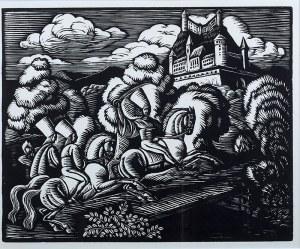 Władysław Skoczylas (1883 Wieliczka – 1934 Warszawa) - Zbójnicy pod zamkiem