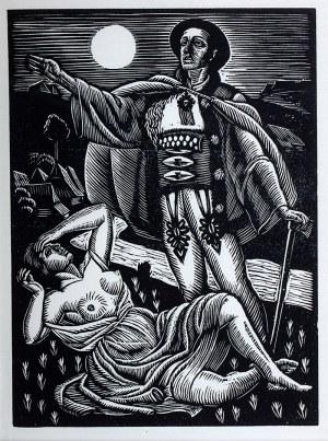 Władysław Skoczylas (1883 Wieliczka – 1934 Warszawa) - Scena miłosna