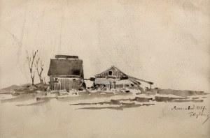 Tadeusz Rybkowski (1848 Kielce – 1926 Lwów) - Wiejskie zabudowy 1887.