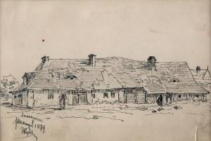 Tadeusz Rybkowski (1848 Kielce – 1926 Lwów) - Wiejska chata, 1879 r.