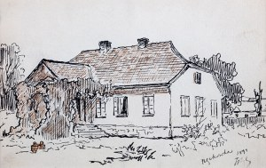 Tadeusz Rybkowski (1848 Kielce – 1926 Lwów) - Dworek, 1899 r.